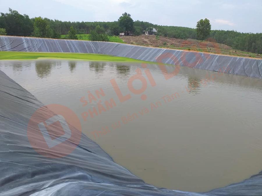 Làm hồ dự trữ nước tưới tiêu mùa nắng.